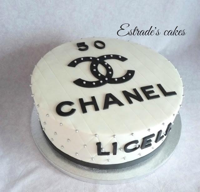 tarta de Chanel para un cumpleaños 4