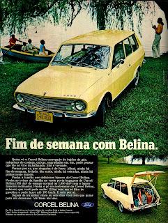 propaganda Ford Belina - 1970; propaganda década de 70; os anos 70; Oswaldo Hernandez