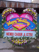 Bunga Papan Happy Wedding Pondok Indah