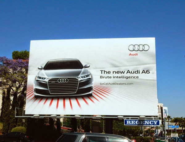 Audi A6 Brute Intelligence billboard