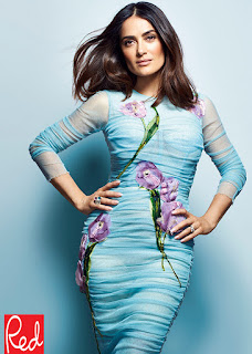 Salma Hayek covers Red magazine. Talks about her husband and her daughter. Details at JasonSantoro.com