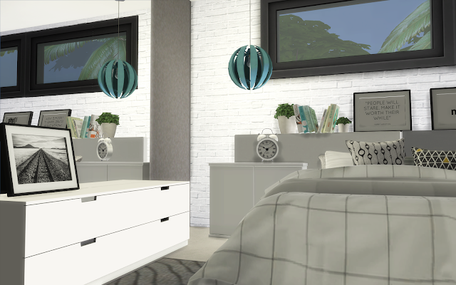 chambre scandinave sims 4