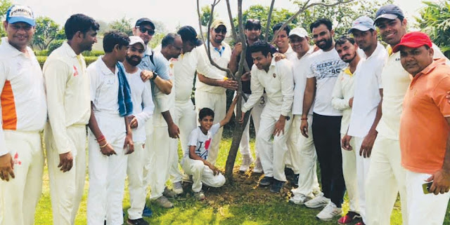 CPC and Youth XI also planted plantation along with friendship match