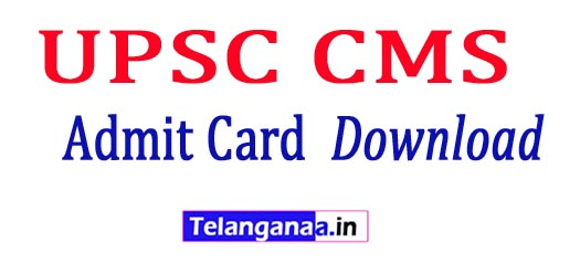 UPSC CMS Admit Card 2018 Download UPSC CMS Exam Hall tickets