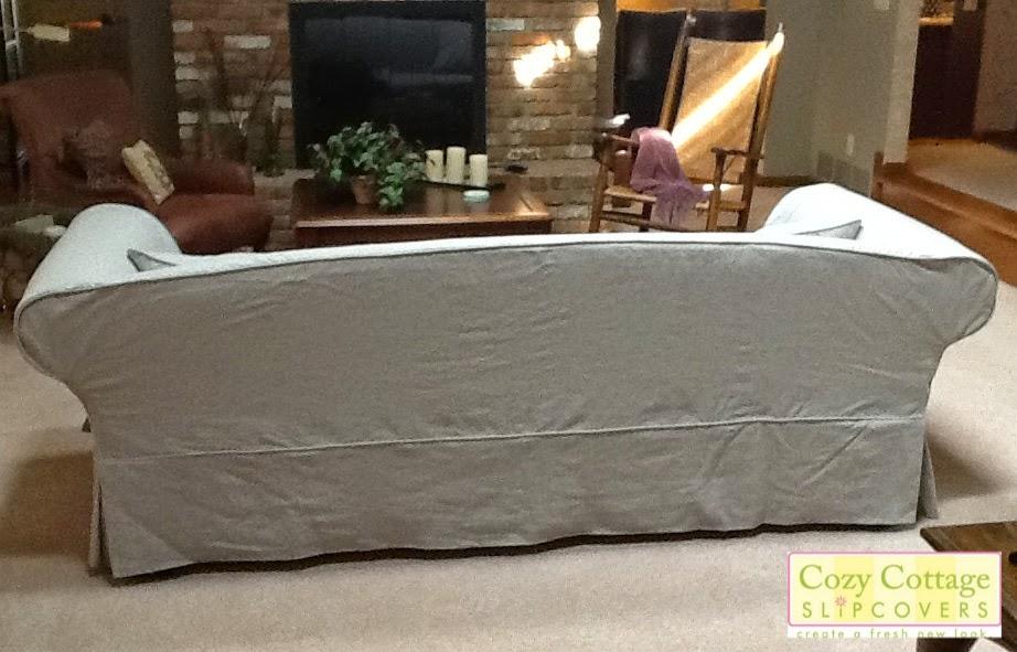 Cozy Cottage Slipcovers Linen Sofa Slipcover