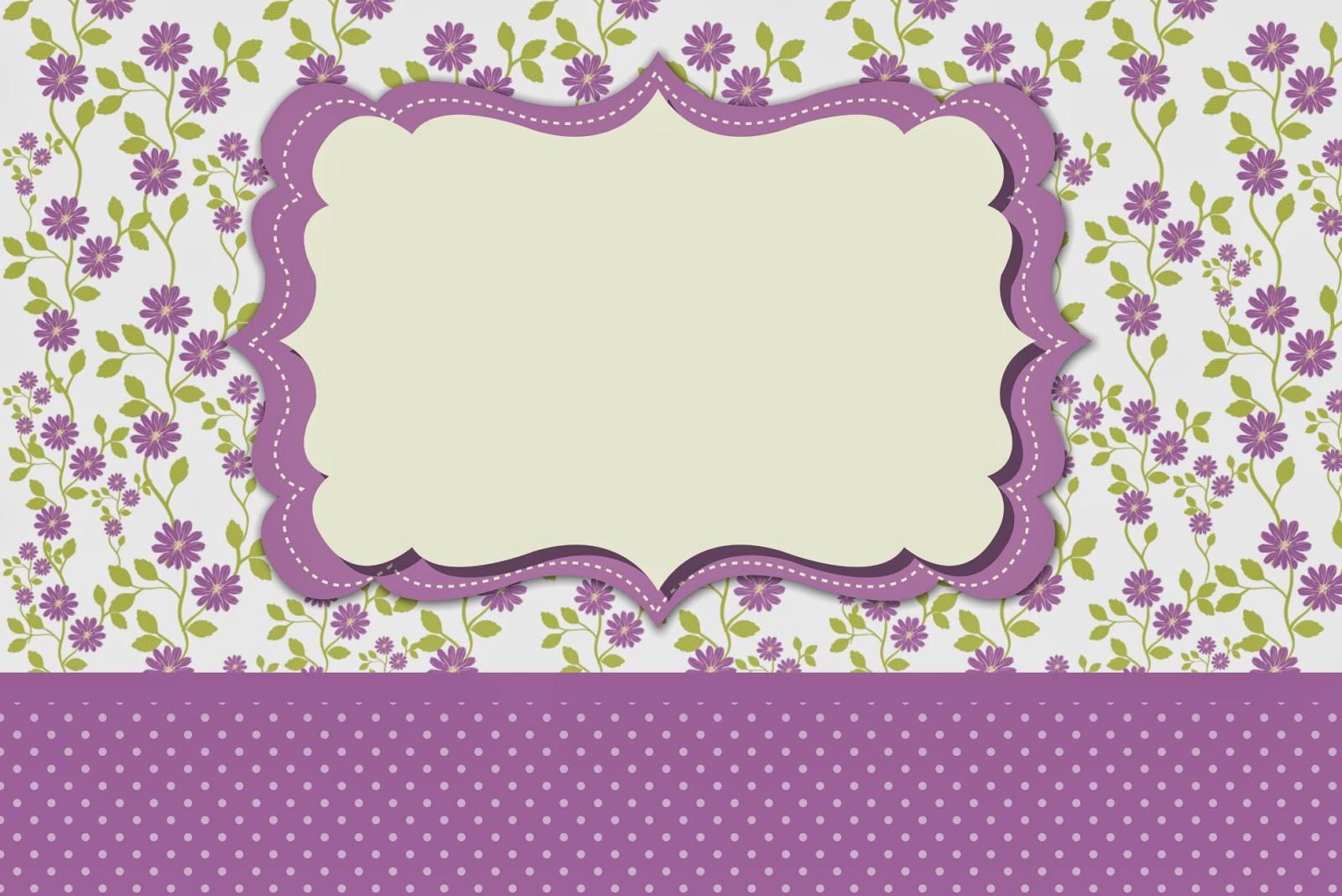 El Dorado Blue Card >> Flores Moradas: Invitaciones para Imprimir Gratis. | Oh My ...