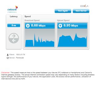 Warih-Homestay-SpeedTest Celcom