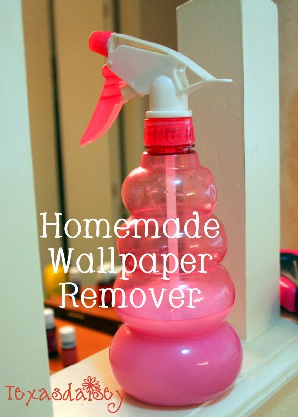 Recipe for homemade wallpaper remover that makes removal easier