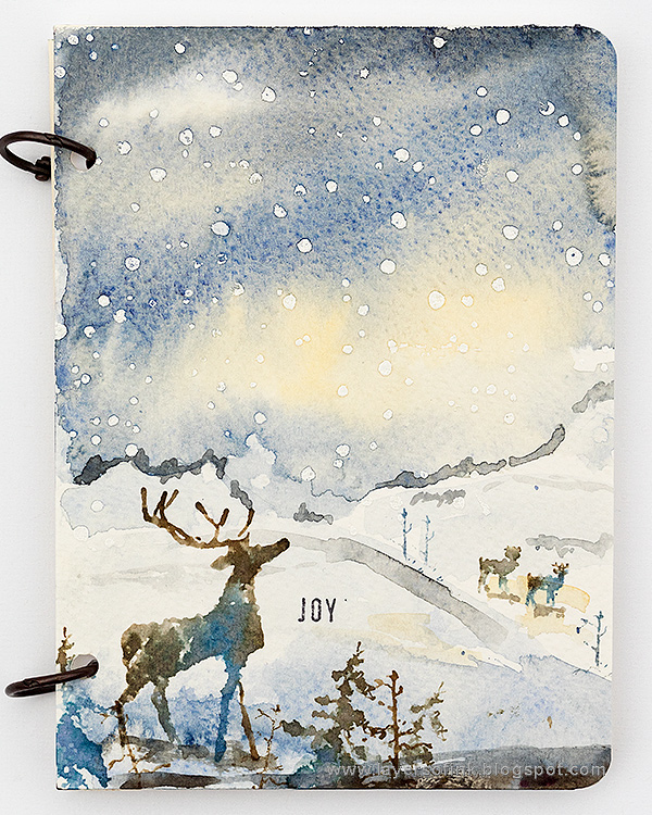 Layers of ink- Winter Watercolor Notebook Tutorial by Anna-Karin Evaldsson
