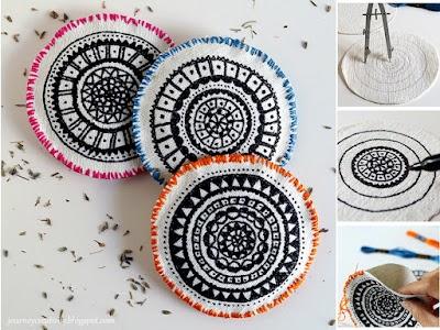 Como hacer bolsitas para lavanda con mandalas dibujados