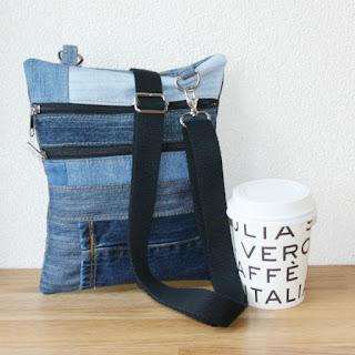 crossbody tas van spijkerbroeken