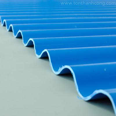 Tôn nhựa Kháng Ăn Mòn PVC Sóng Tròn