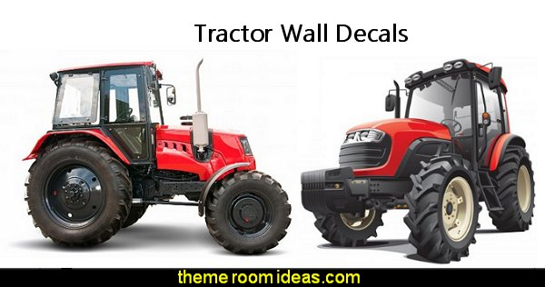 red tractor wall decals tractor wall decal stickers john deere wall decals