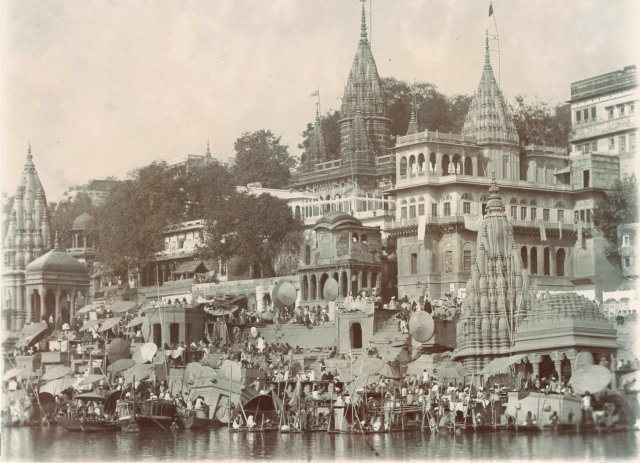 The Temples and Ghats of Varanasi (Benares) - c1900