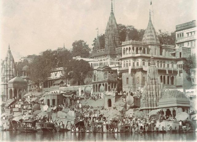 The Temples and Ghats of Varanasi (Benares) - c1900