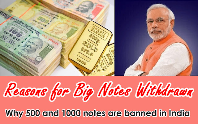 Why Rs 500 and 1000 notes are banned in India