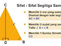 Belajar Matematika Rumus Segitiga Sama Kaki