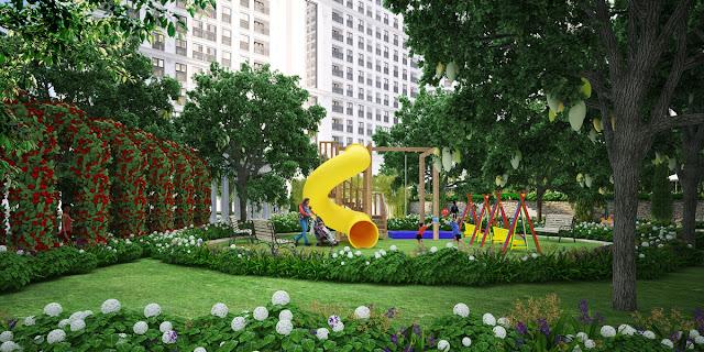 Khuôn viên xanh vui chơi cộng đồng tại THE EMERALD
