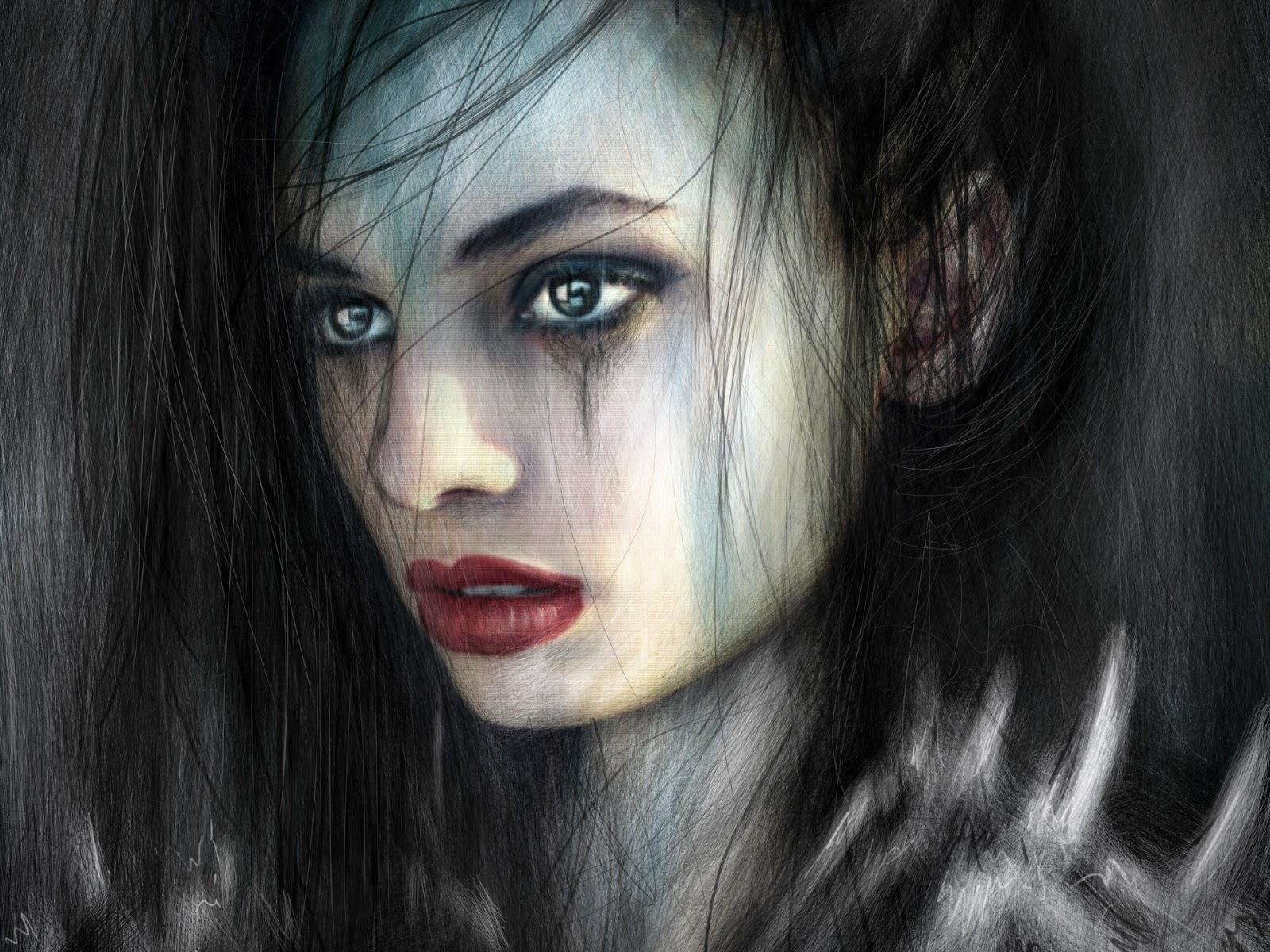Gothic fantasy portrait painting by Justin Gedak