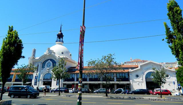 Fachada principal do Mercado da Ribeira, Lisboa