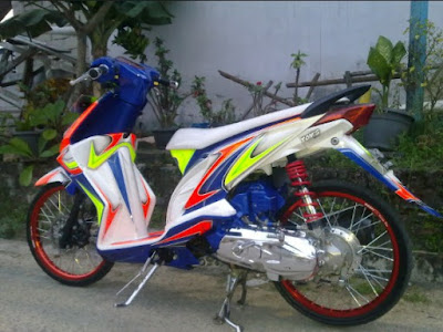Modifikasi Honda Beat Full Airbrush Simple