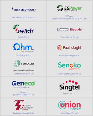 Open Electricity Market (OEM) Retailers in Singapore Personal Portfolio