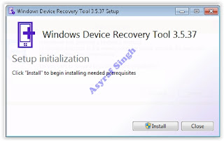 installing device recovery tool - flash lumia