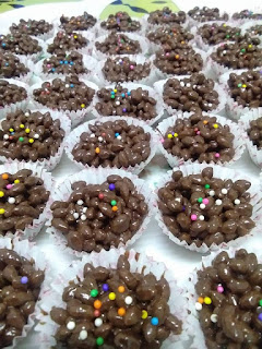 Biskut Bubble Rice Coklat Resepi