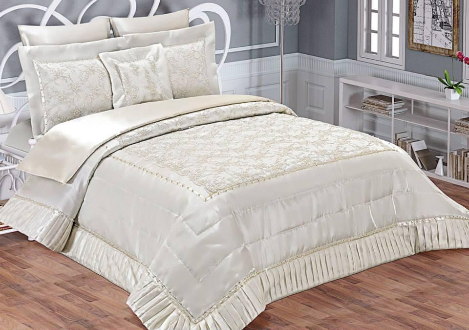 fransız danteli yatak örtüsü DAMLA