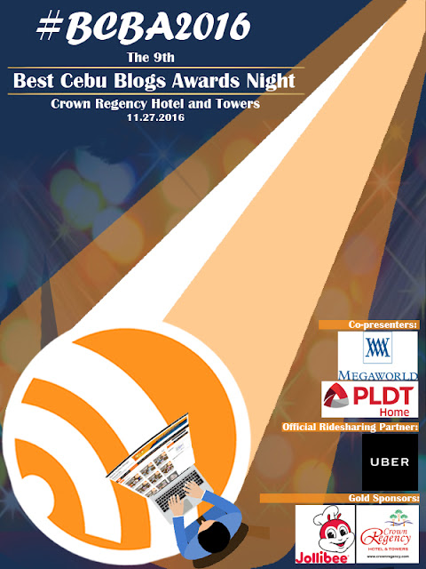 Best Cebu Blogs Awards 2016 Official Event Poster
