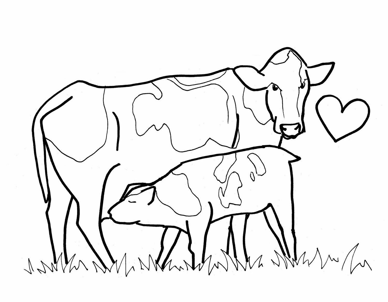 Desenhos De Colorir Mamae Vaca E Bezerro Para Imprimir Pintar E
