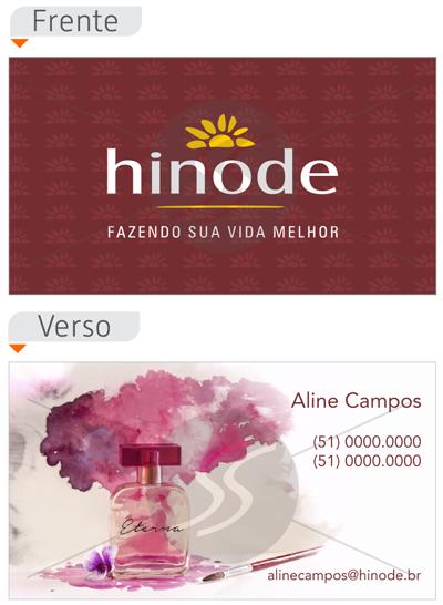 cartao de visita hinode moderno - Cartões de Visita Hinode