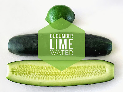 Drinking More H20: Cucumber Lime Water