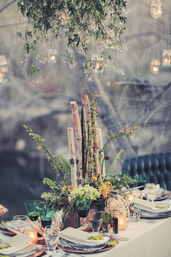 bride+groom+bridal+dress+gown+floral+hair+wreath+rustic+woodland+ecofriendly+eco+friendly+green+emerald+color+of+the+year+pantone+cake+dessert+table+reception+centerpiece+blue+hipster+fall+autumn+gideon+photography+47 - Woodland Fairytale