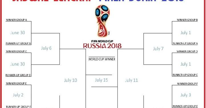 jadwal lengkap piala dunia 2018 dari fase grup sampai