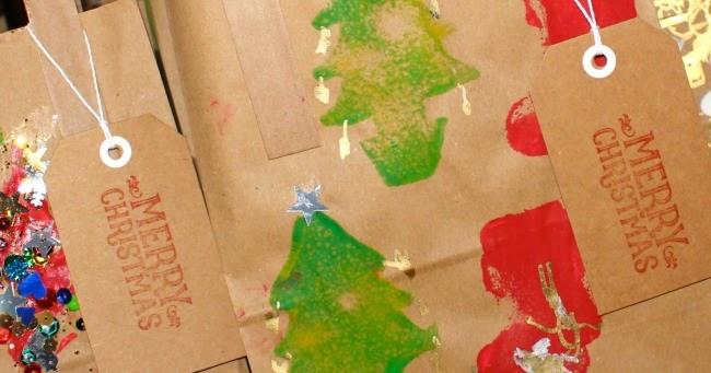 Homemade Christmas Gift Bags - Messy Little Monster