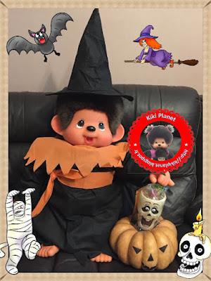 Wendy monchhichi 80cm fête Halloween sur kiki planet - sorcière