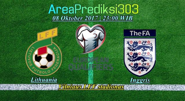 Prediksi Skor Lithuania vs Inggris 08 Oktober 2017