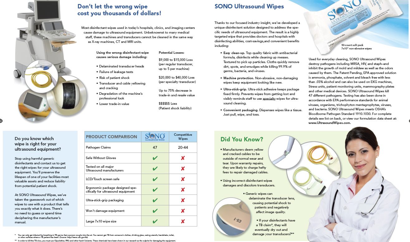 Disinfectant Wipes Damaging Ultrasound Equipment