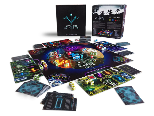 Ether Wars Sci-fi strategy board game