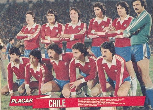 Formación de Chile ante Brasil, amistoso disputado el 26 de agosto de 1981