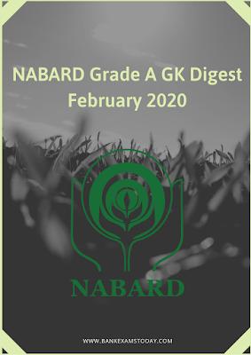 NABARD Grade A GK Digest: February 2020