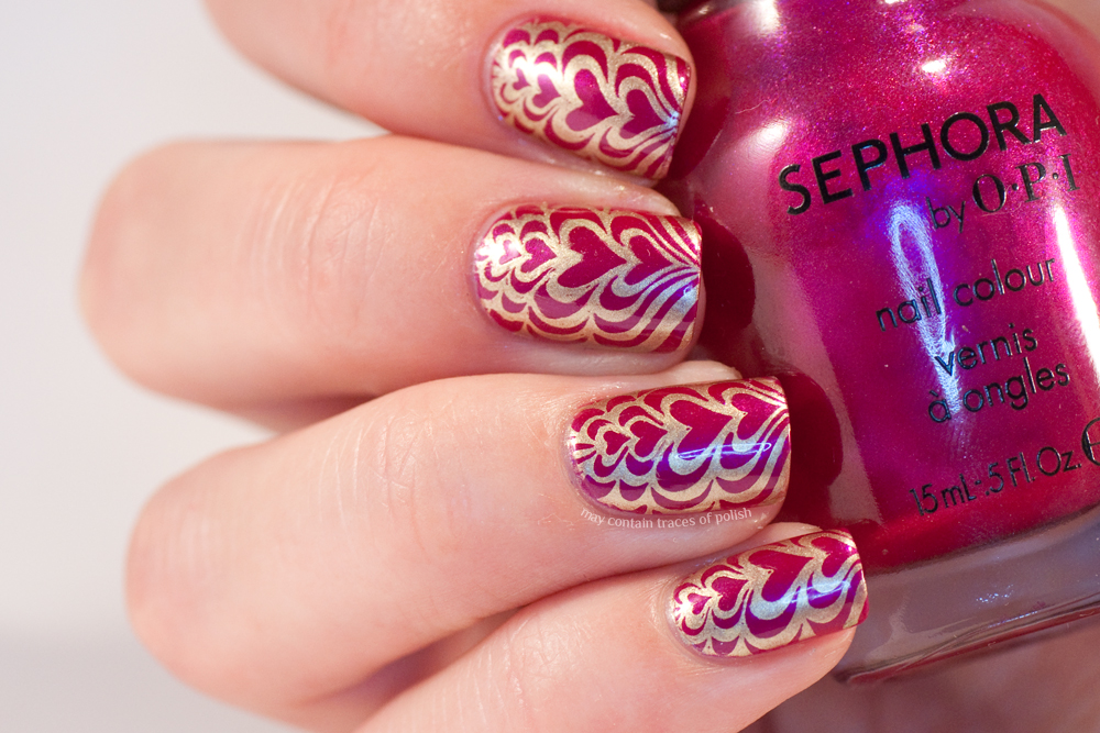 Faux water marble nails - May contain traces of polish