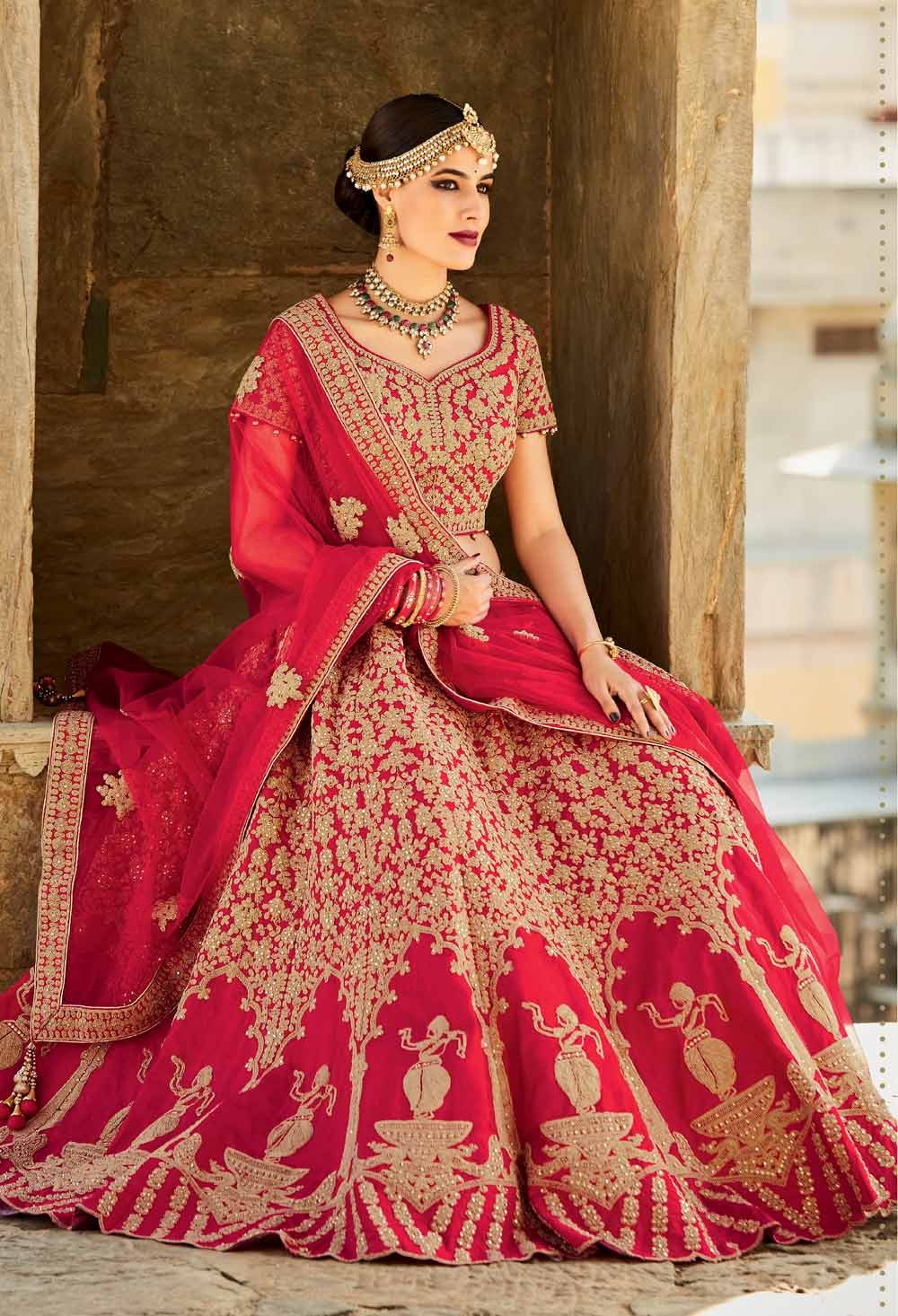 Red Lehenga for a bride