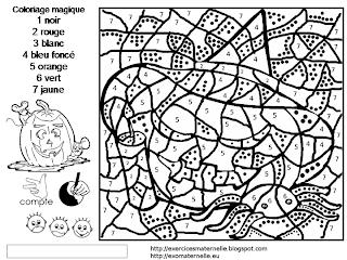 Maternelle Coloriage Magique Une Citrouille D Halloween