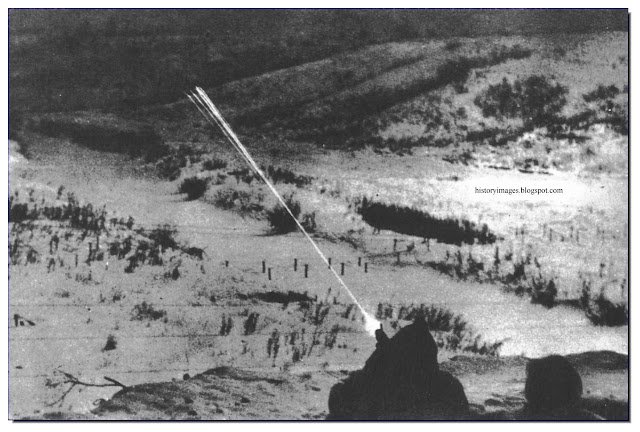 Wiking SS troops firing at Russian positions