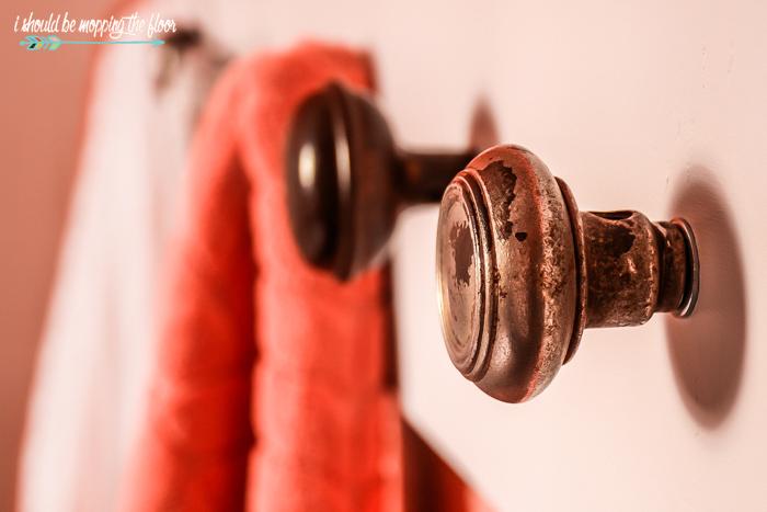Antique Door Knob Towel Rack