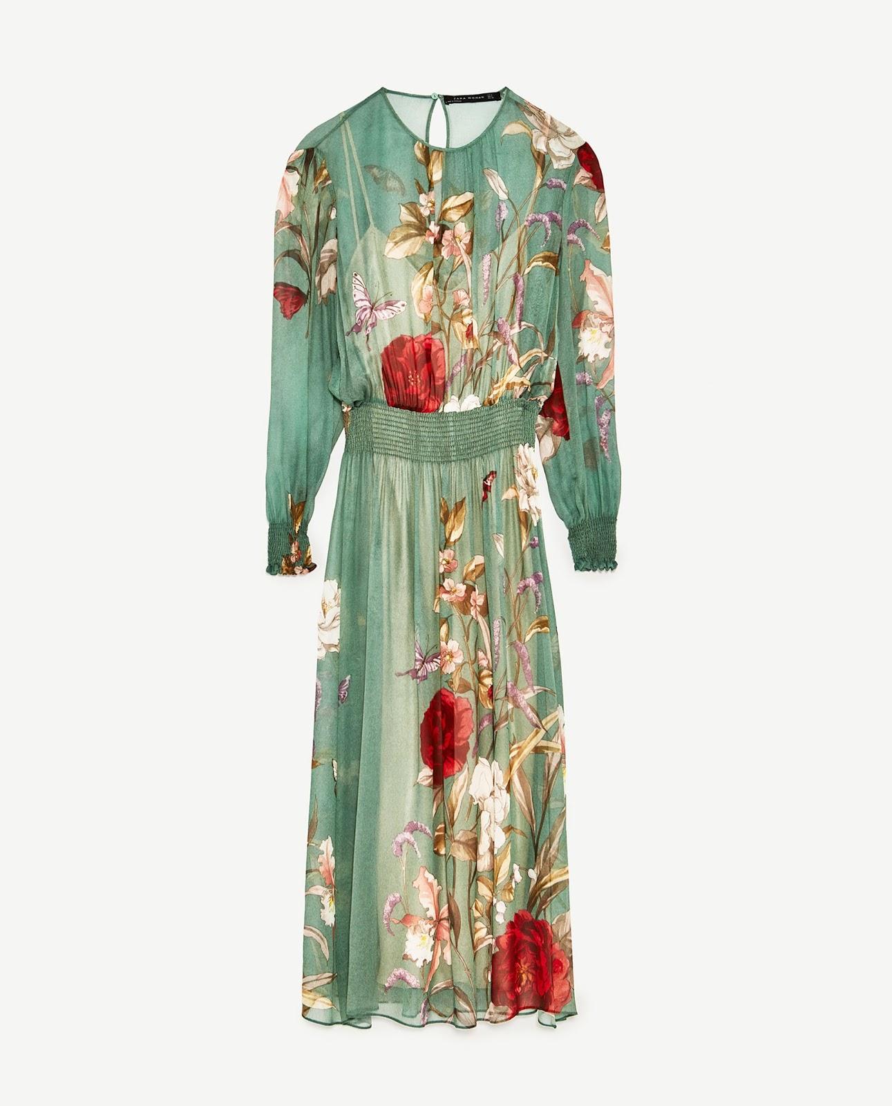 902f50efb0 É ZARA! Vestido Floral Verde da Marina Ruy Barbosa - ZAREAR