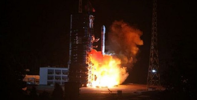 A Long March 3C rocket launches with the BeiDou-2 Compass G7 satellite on June 12. Photo Credit: Weibo