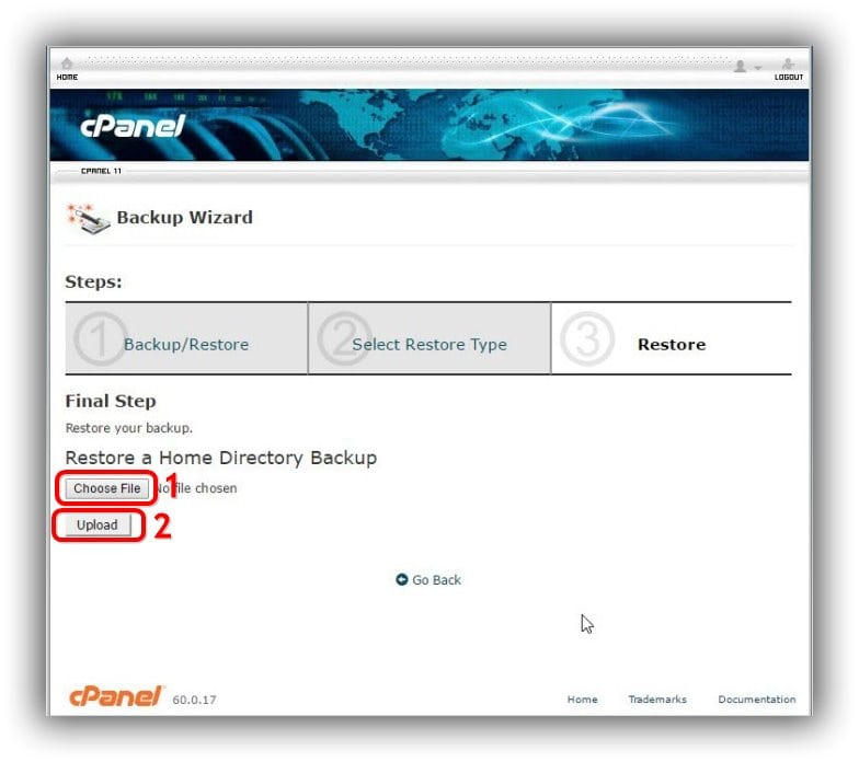 cPanel-restore-home-directory